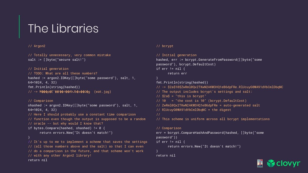The Libraries // Argon2 // Totally unnecessary,...
