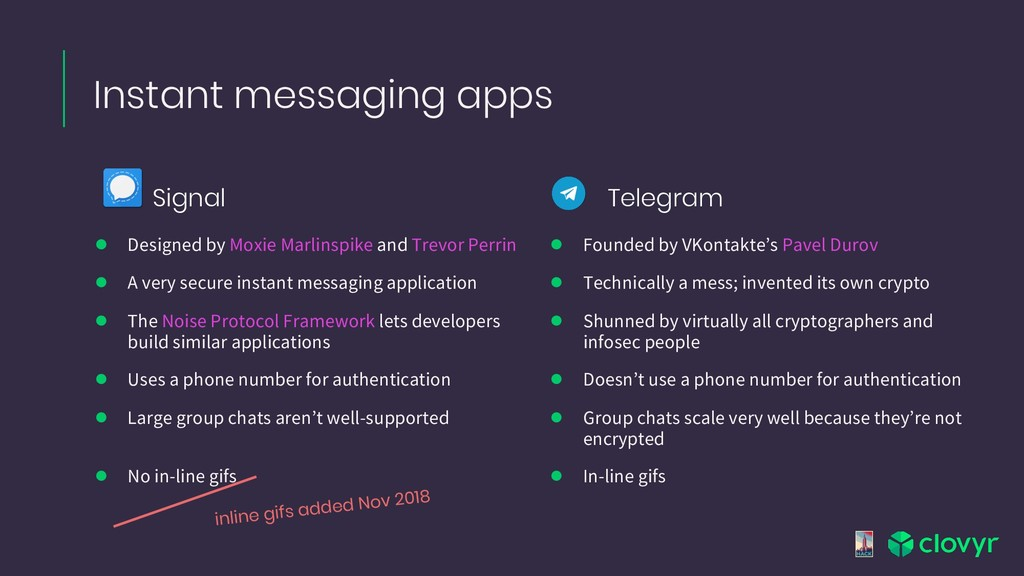 Signal Instant messaging apps ● Designed by Mox...