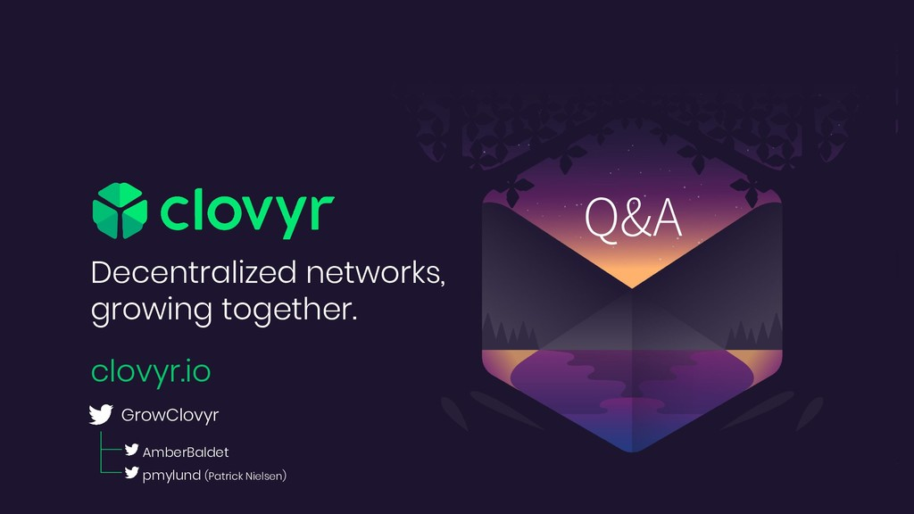 Decentralized networks, growing together. clovy...