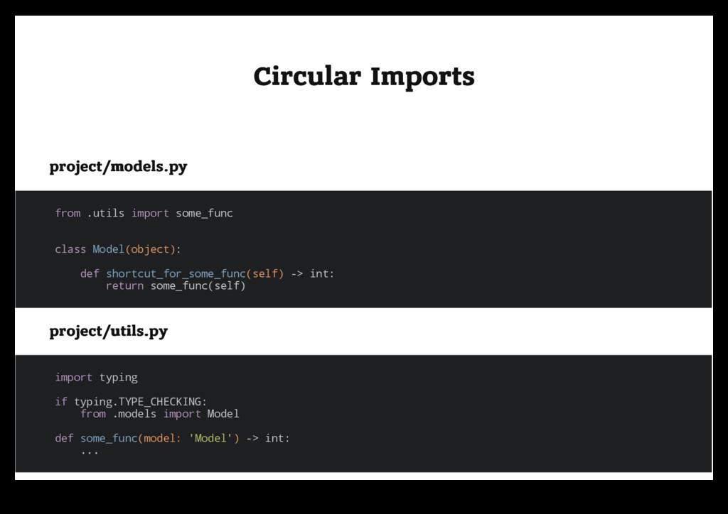 Circular Imports Circular Imports project/model...