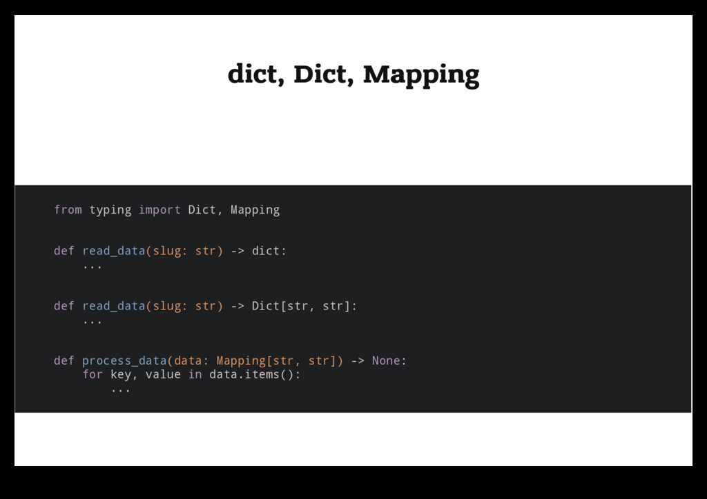 dict, Dict, Mapping dict, Dict, Mapping from ty...