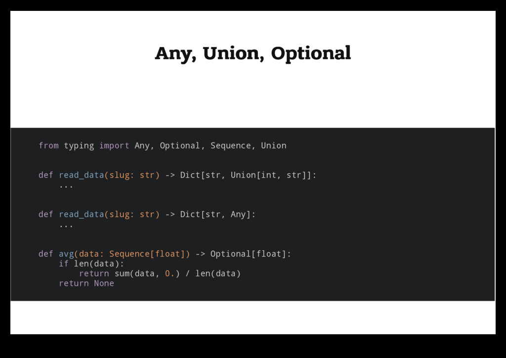 Any, Union, Optional Any, Union, Optional from ...