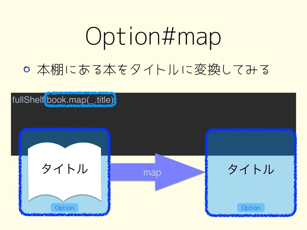 fullShelf.book.map(_.title) Option#map λΠτϧ map...