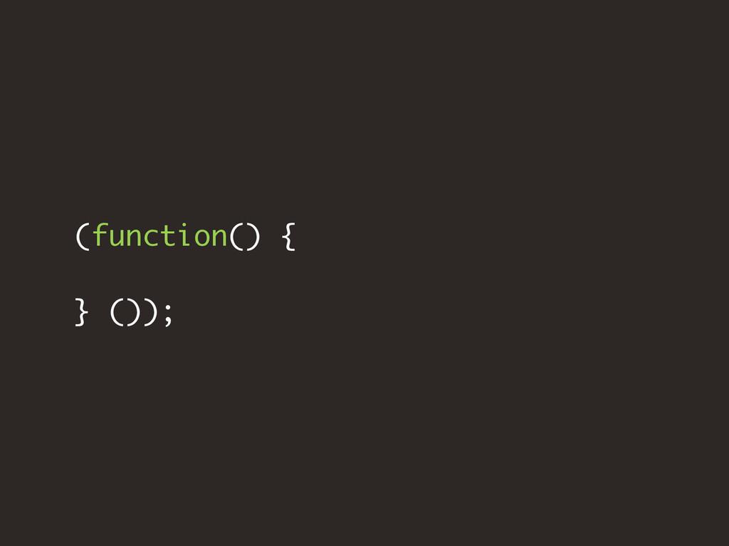 (function() { } ());