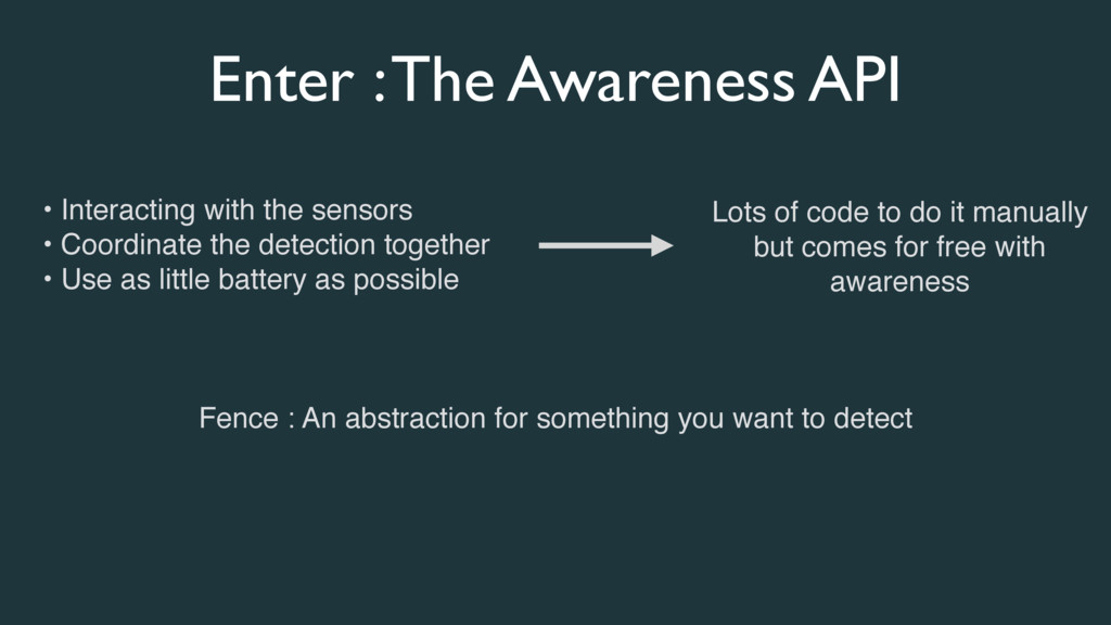 • Interacting with the sensors • Coordinate the...