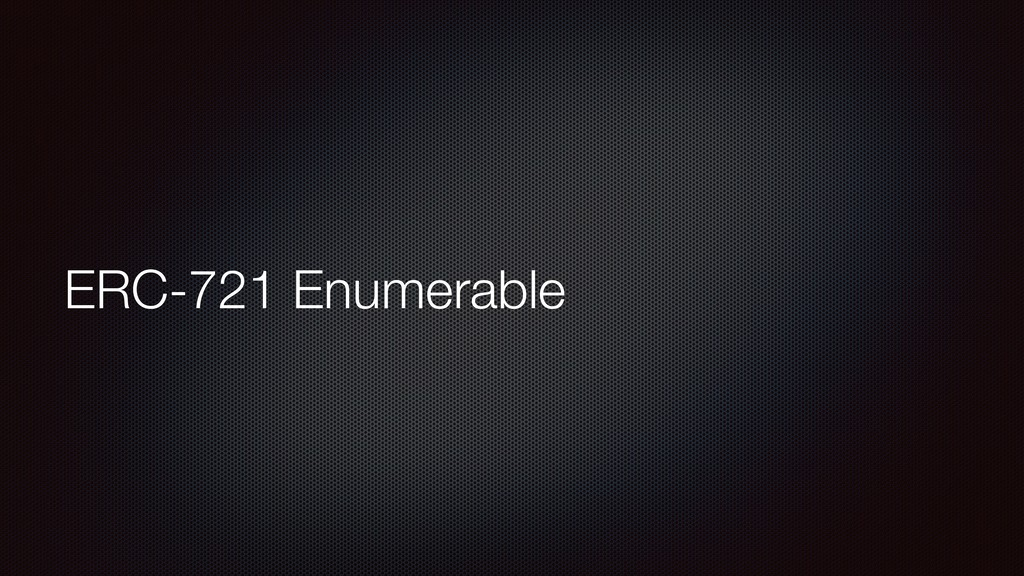 ERC-721 Enumerable