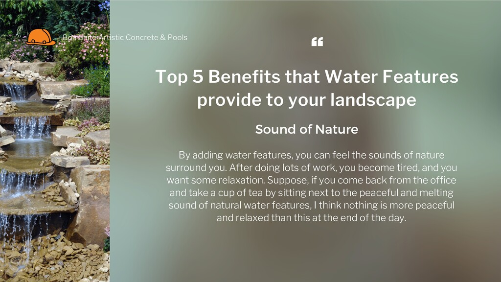 Top 5 Benefits that Water Features provide to y...