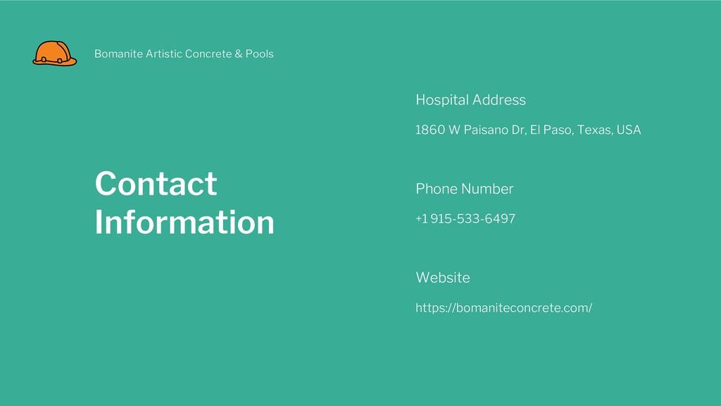 Contact Information Hospital Address 1860 W Pai...