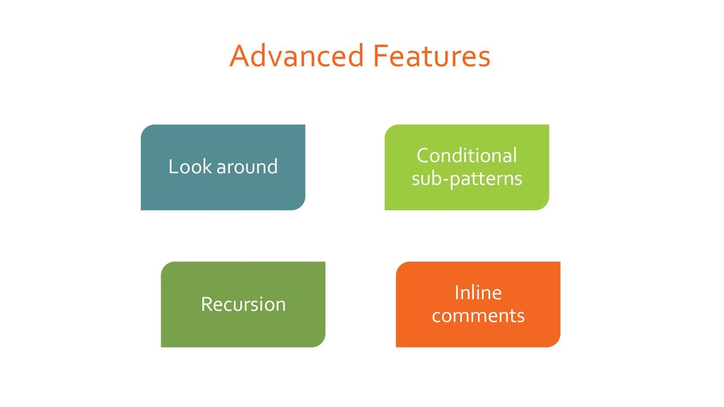 Advanced Features Look around Conditional sub-p...
