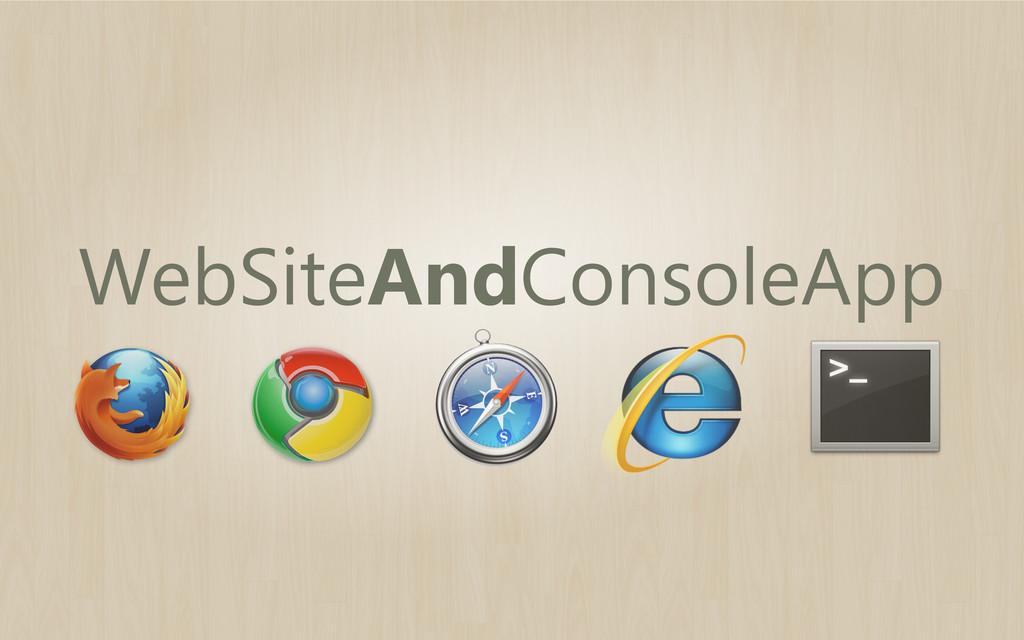 WebSiteAndConsoleApp