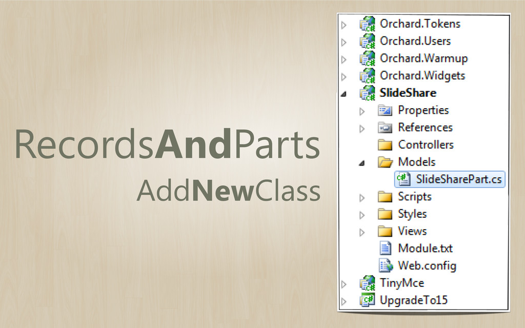 RecordsAndParts AddNewClass