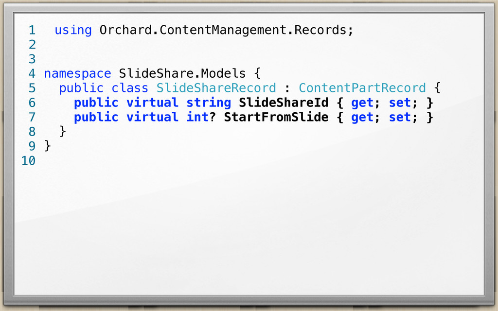 using Orchard.ContentManagement.Records; namesp...