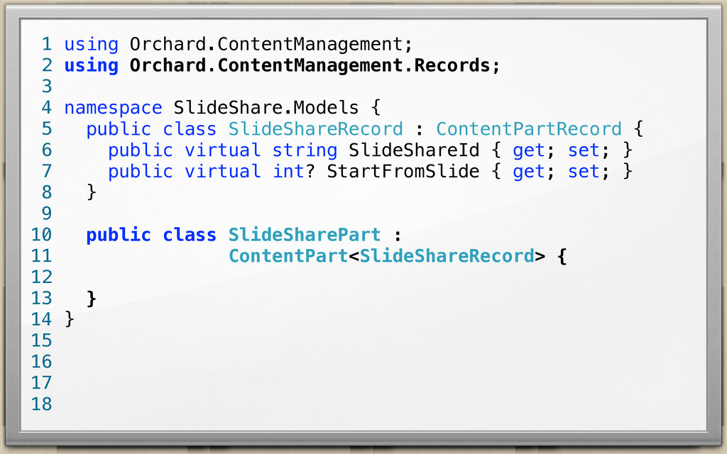using Orchard.ContentManagement; using Orchard....