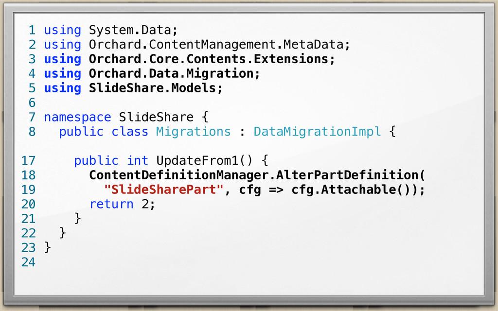 using System.Data; using Orchard.ContentManagem...