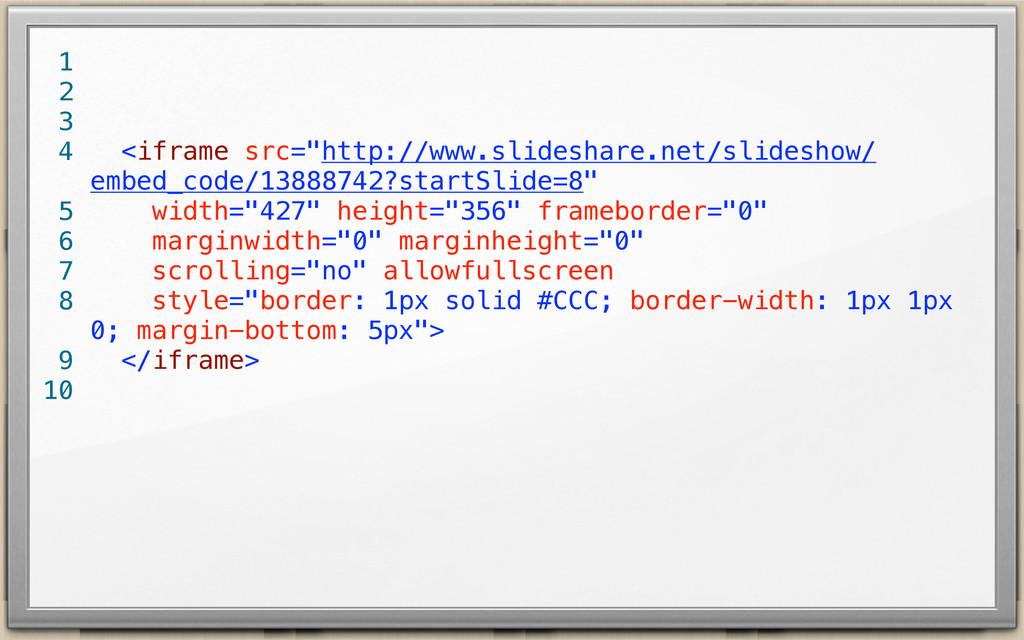 """<iframe src=""""http://www.slideshare.net/slidesho..."""