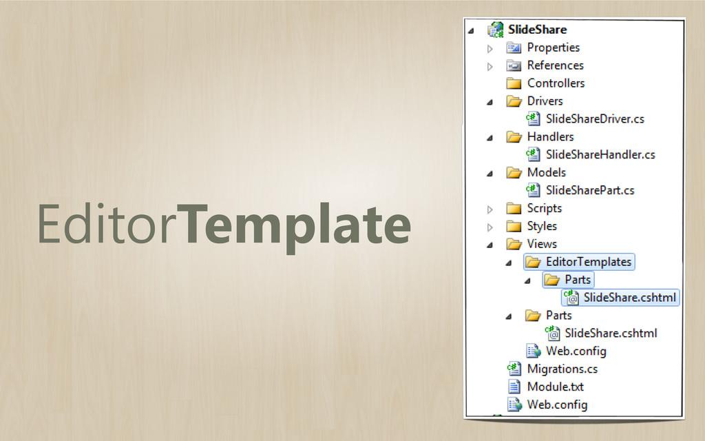 EditorTemplate