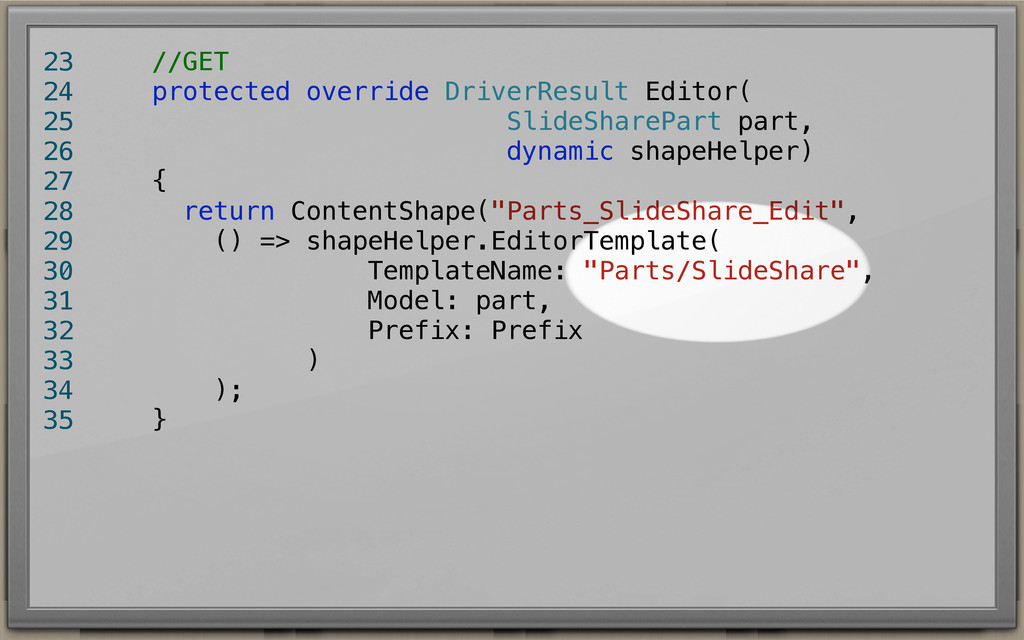 //GET protected override DriverResult Editor( S...