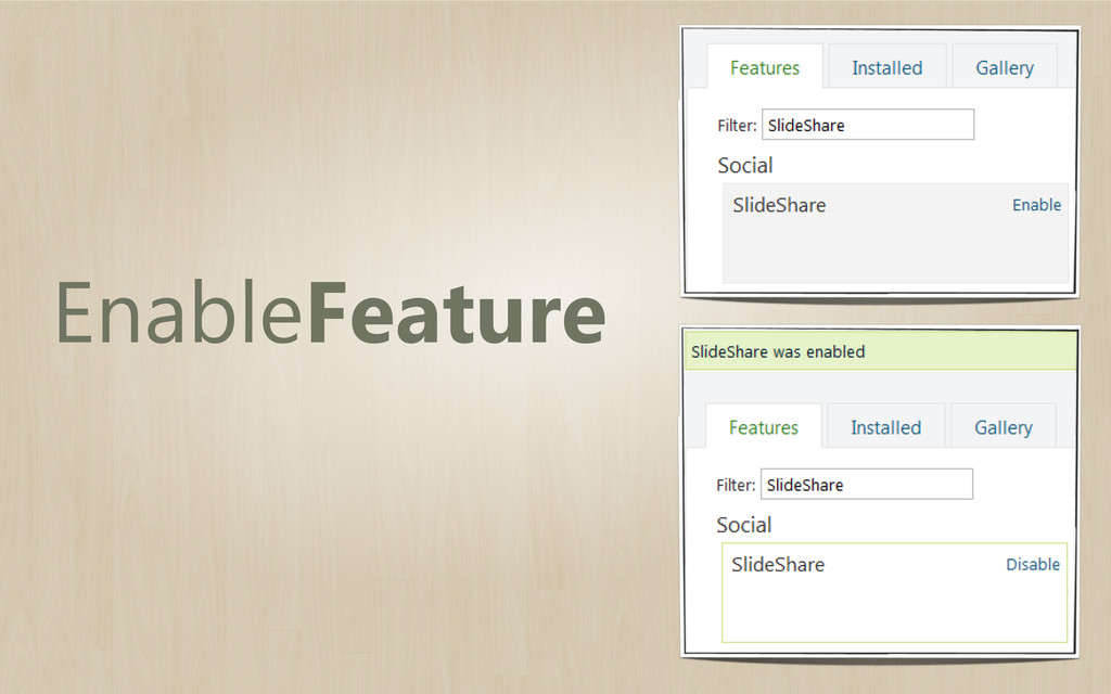 EnableFeature