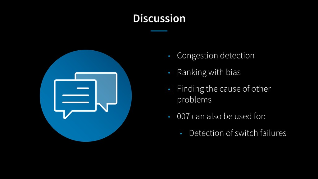 Discussion • Congestion detection • Ranking wit...