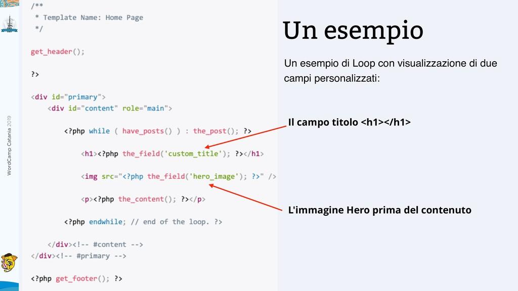 WordCamp Catania 2019 Un esempio Un esempio di ...
