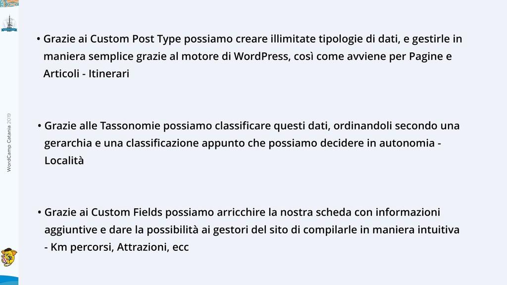 WordCamp Catania 2019 • Grazie ai Custom Post T...