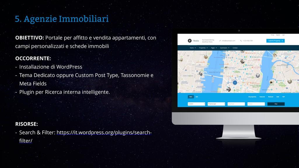 WordCamp Catania 2019 5. Agenzie Immobiliari OB...