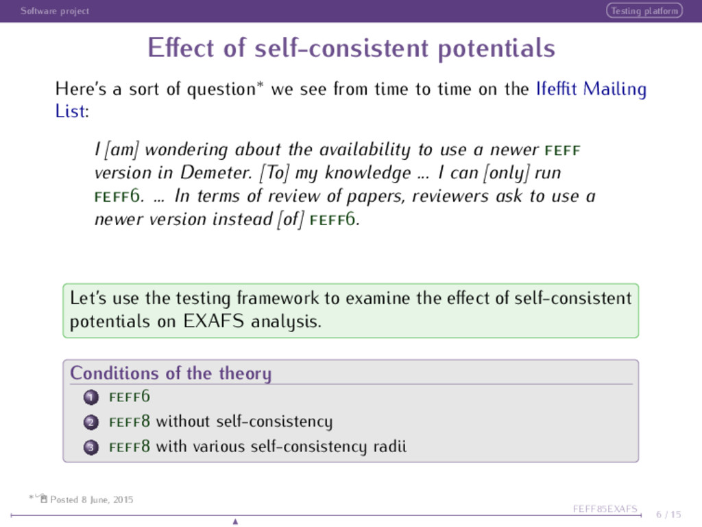 Software project Testing platform Effect of self...