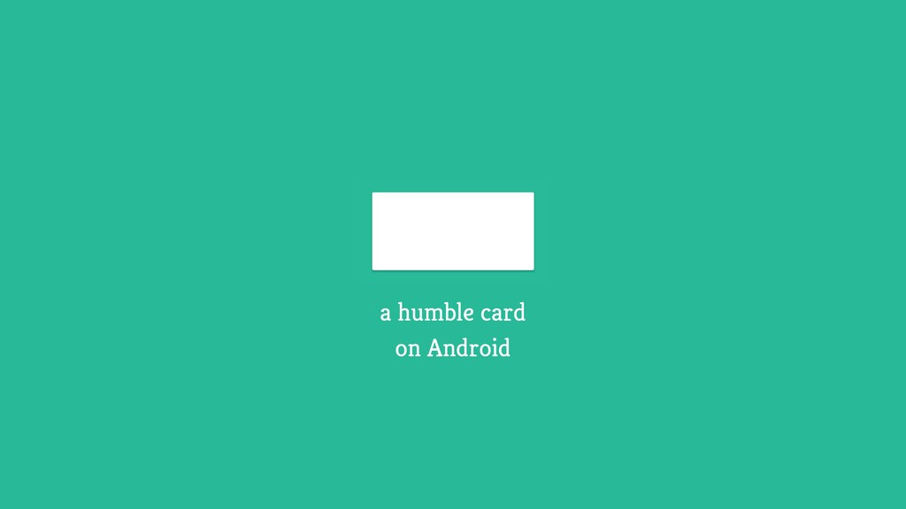 a humble card on Android