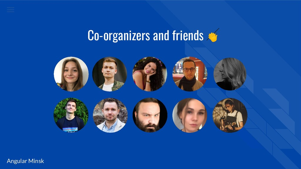 Angular Minsk Co-organizers and friends