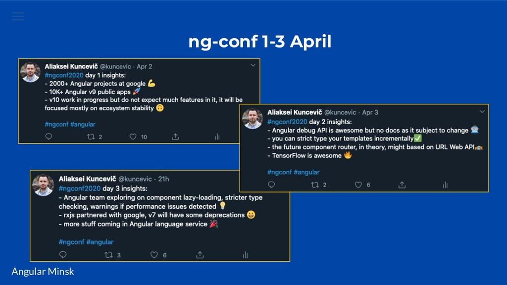 Angular Minsk ng-conf 1-3 April