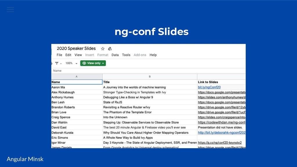 Angular Minsk ng-conf Slides