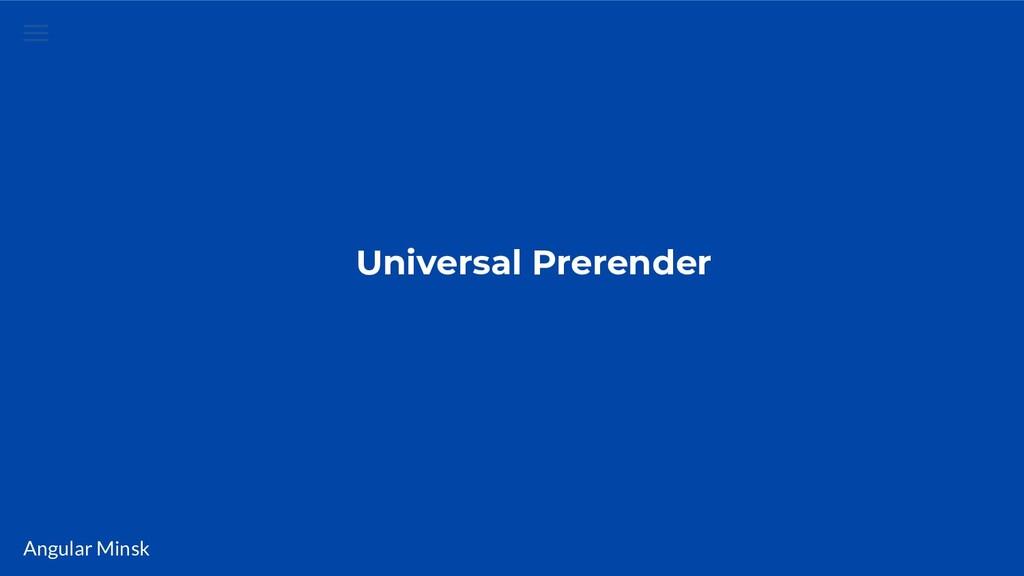 Angular Minsk Universal Prerender