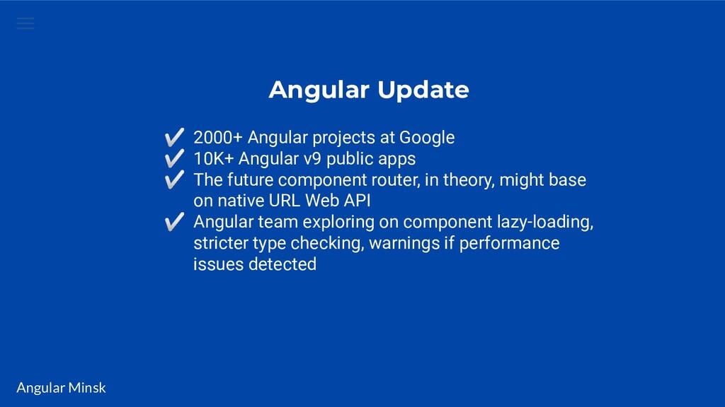 Angular Minsk Angular Update ✅ 2000+ Angular pr...