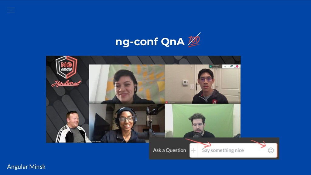 Angular Minsk ng-conf QnA
