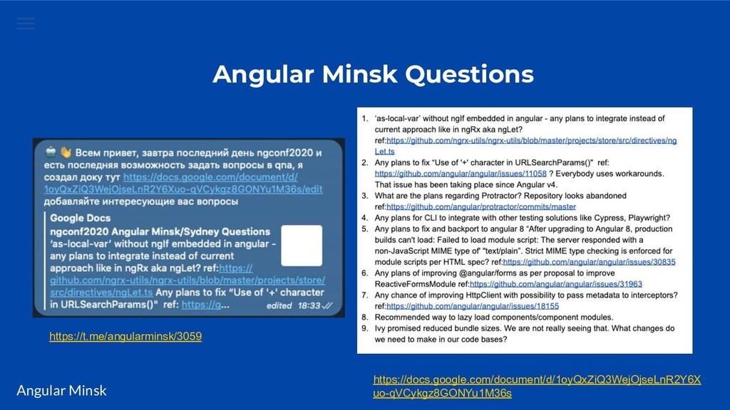 Angular Minsk Angular Minsk Questions https://t...
