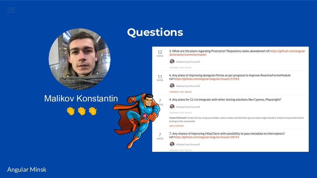 Angular Minsk Questions Malikov Konstantin