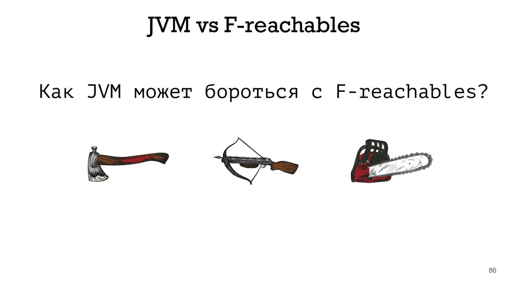 Как JVM может бороться с F-reachables? 86 JVM v...