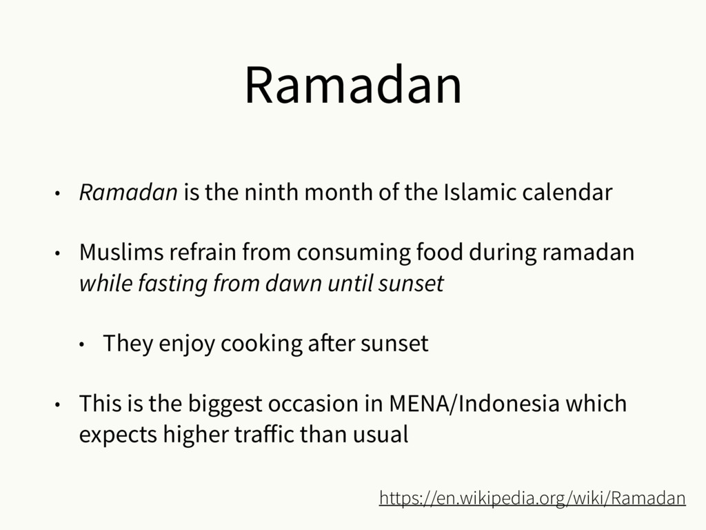 Ramadan • Ramadan is the ninth month of the Isl...