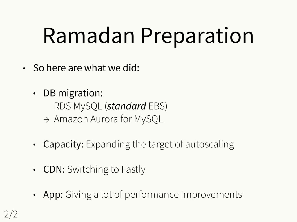 Ramadan Preparation • So here are what we did: ...