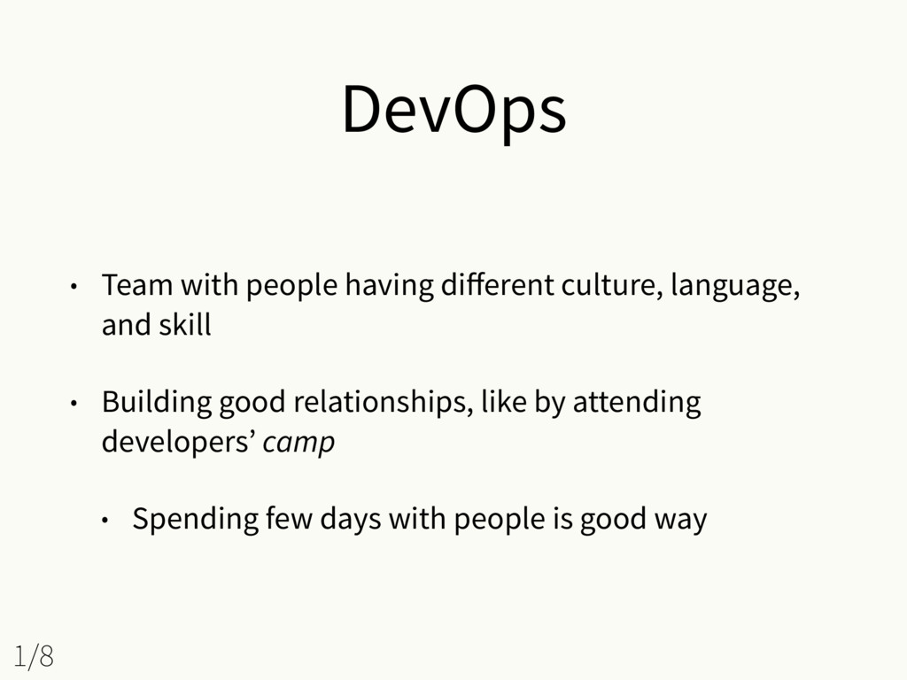 DevOps • Team with people having different cultu...