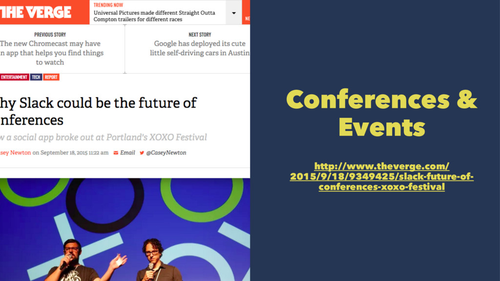 Conferences & Events http://www.theverge.com/ 2...