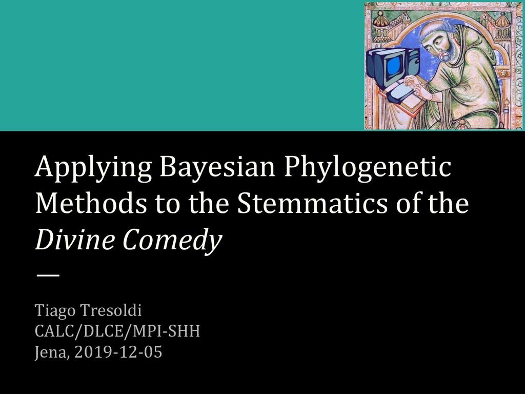 Applying Bayesian Phylogenetic Methods to the S...