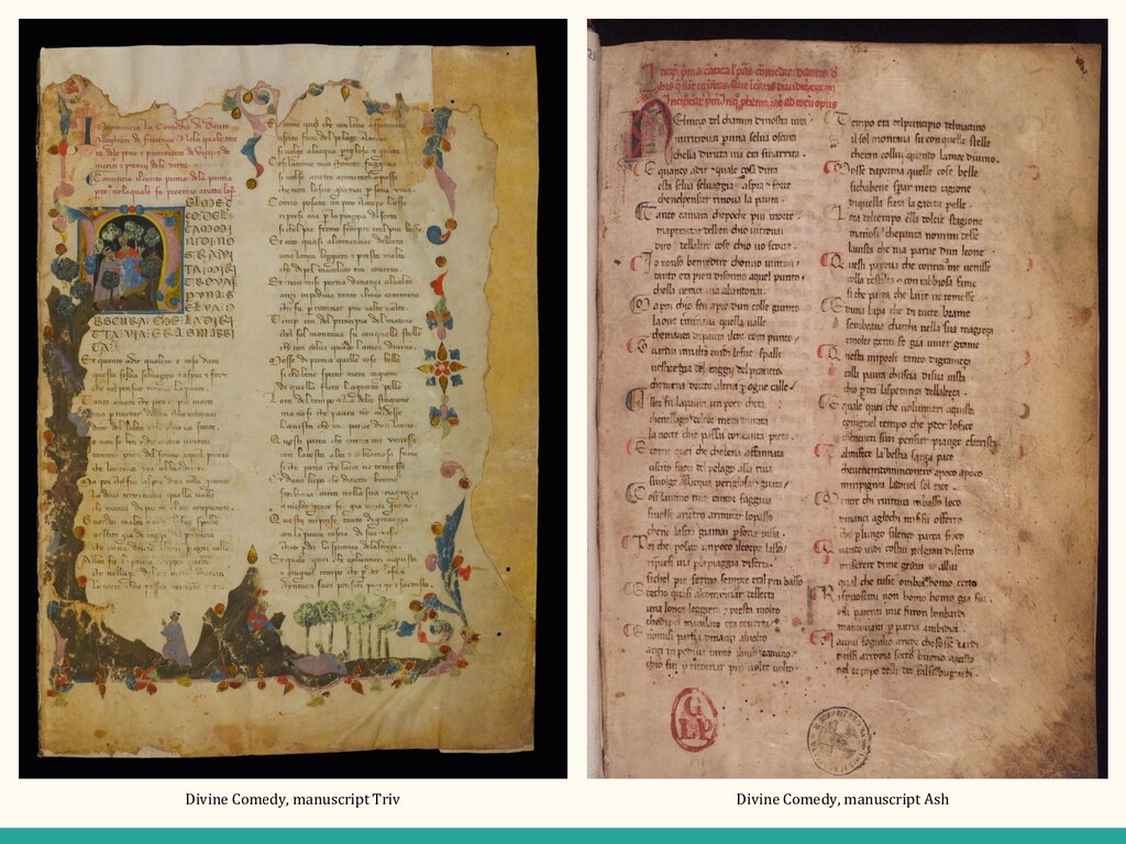 Divine Comedy, manuscript Triv Divine Comedy, m...