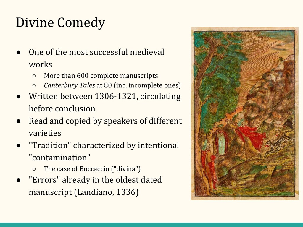 Divine Comedy ● One of the most successful medi...