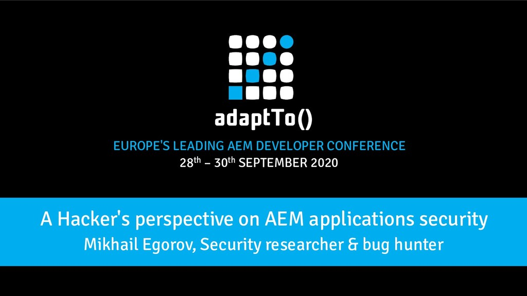 EUROPE'S LEADING AEM DEVELOPER CONFERENCE 28th ...