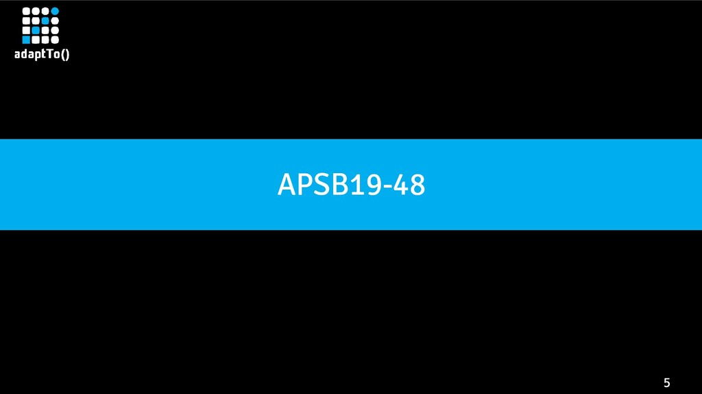 5 APSB19-48