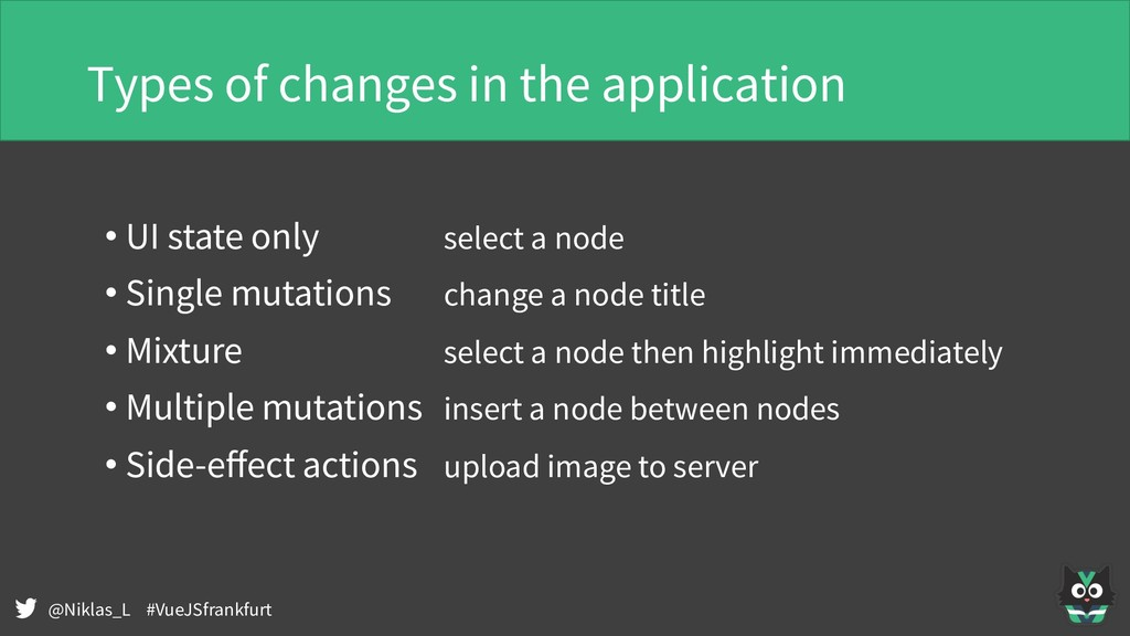 @Niklas_L #VueJSfrankfurt Types of changes in t...