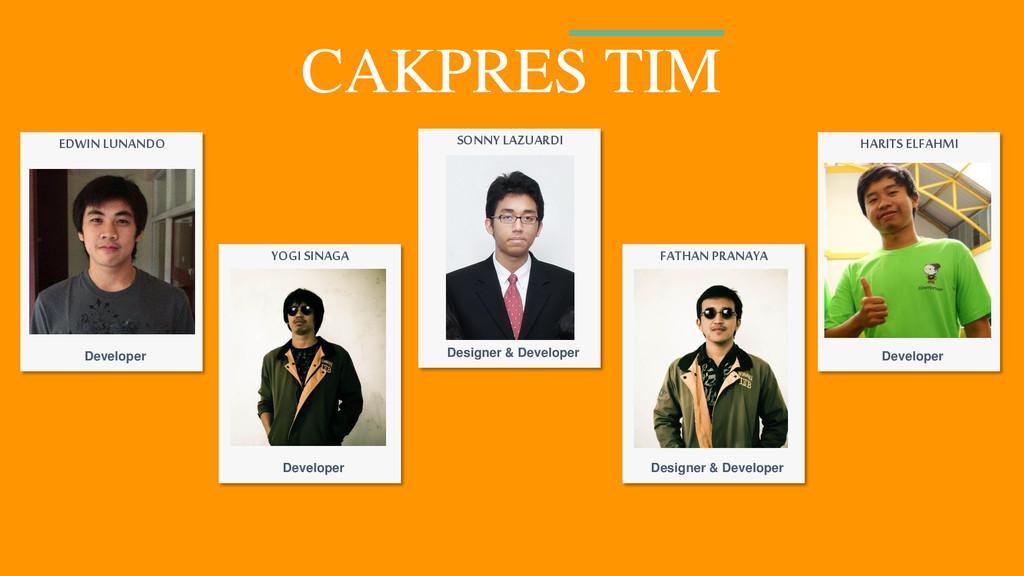 CAKPRES TIM SONNY LAZUARDI Designer & Developer...