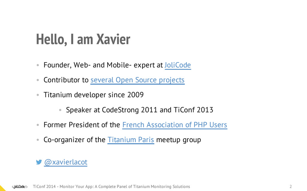 Hello, I am Xavier • Founder, Web- and Mobile- ...