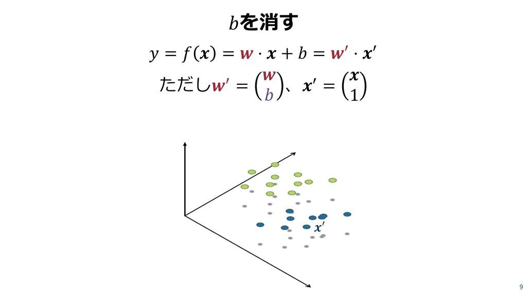 を消す  =   =  ⋅  +  = ′ ⋅ ′ ただし′ =   、′ =  1 9 𝒙